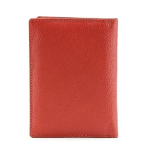 BACCI Bags - LEATHER PASSPORT COVER - RED